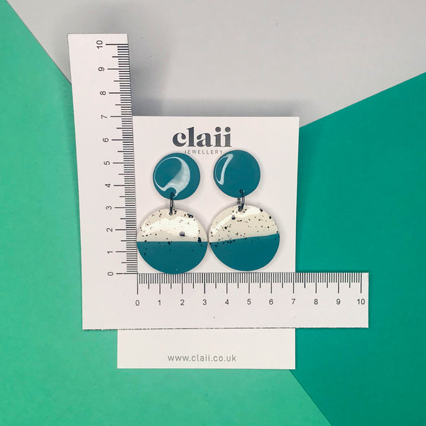 Paint Splatter Circle Dangle Earrings