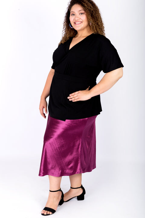 Velvet Luxe A-line Skirt – Long
