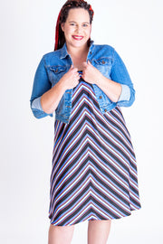 Striped Horizons A-Line Skirt