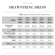 Drawstring Summer Dress