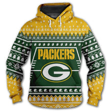 Load image into Gallery viewer, Green Bay Packers 3d Hoodie Christmas Edition