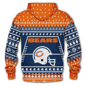 Chicago Bears Hoodie 3d Christmas Edition