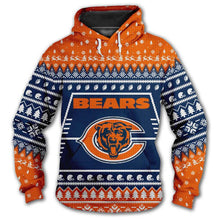 Load image into Gallery viewer, Chicago Bears Hoodie 3d Christmas Edition