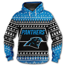 Load image into Gallery viewer, Carolina Panthers 3d Hoodie Christmas Edition
