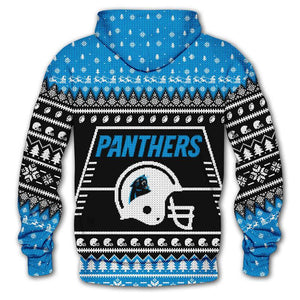 Carolina Panthers 3d Hoodie Christmas Edition