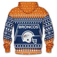 Load image into Gallery viewer, Denver Broncos 3d Hoodie Christmas Edition