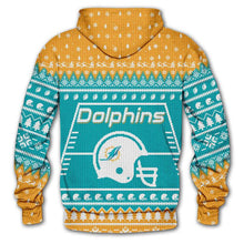 Load image into Gallery viewer, Miami Dolphins Hoodie Christmas Edition