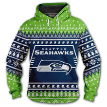 Load image into Gallery viewer, Seattle Seahawks 3d Hoodie Christmas Edition