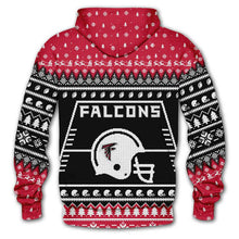 Load image into Gallery viewer, Atlanta Falcons 3d Hoodie Christmas Edition