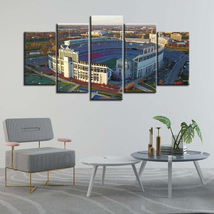 Ohio State Buckeyes Stadium Canvas 1