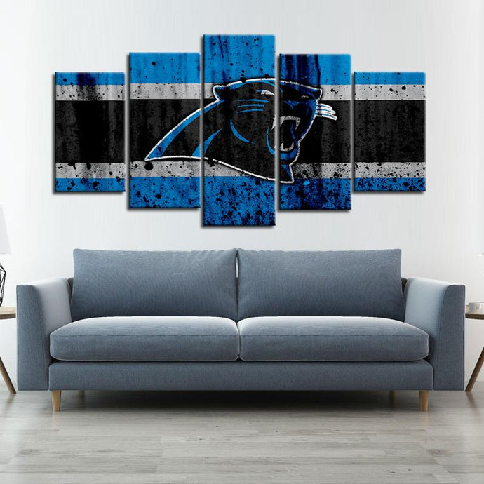 Carolina Panthers Rough Look Canvas