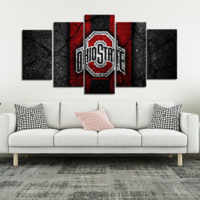 Ohio State Buckeyes Rock Style Canvas