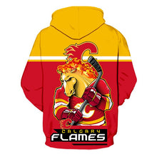 Load image into Gallery viewer, Calgary Flames 3D Hoodie