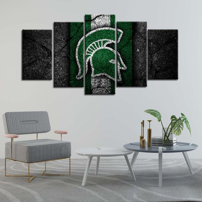 Michigan State Spartans Football Rock Style Canvas