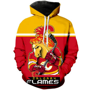 online store a3b3a ab374 Calgary Flames 3D Hoodie