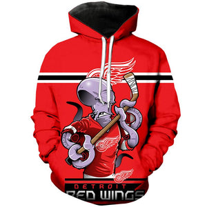 Detroit Red Wings 3D Hoodie