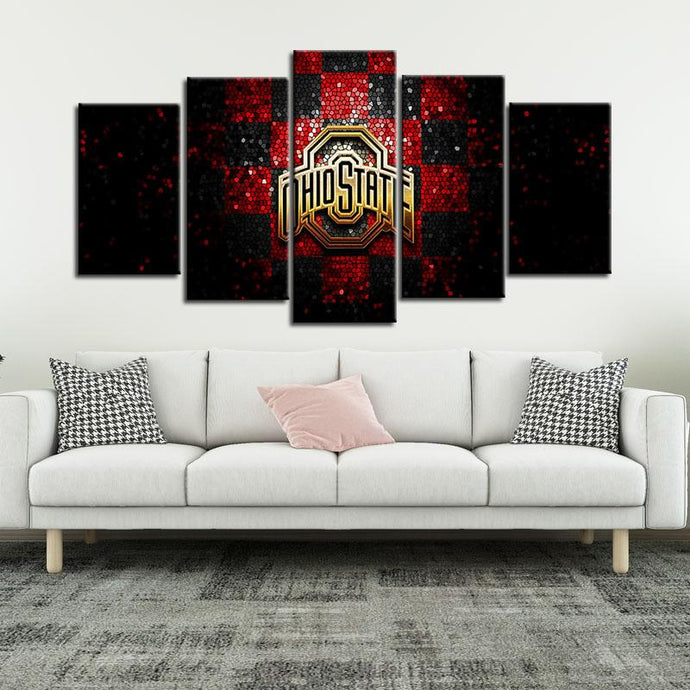 Ohio State Buckeyes Checkered Look Canvas