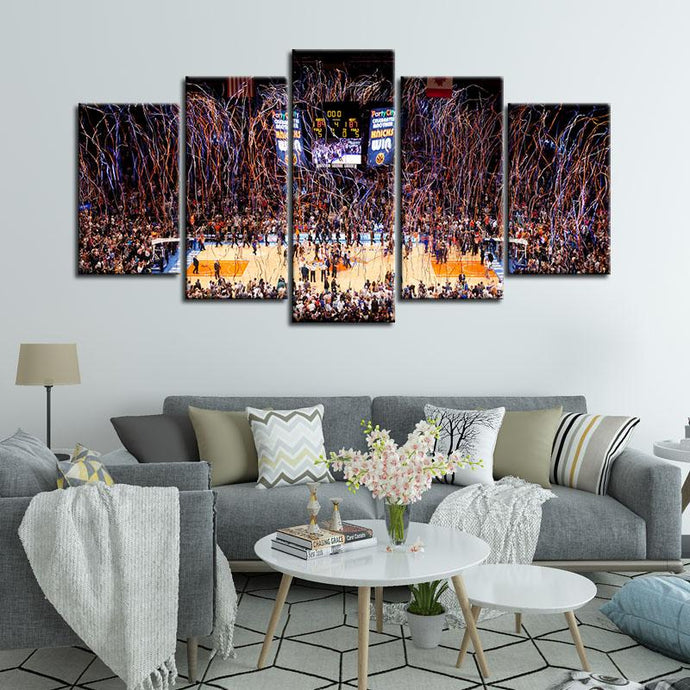New York Knicks Stadium 5 Pieces Wall Painting Canvas