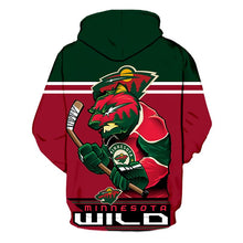 Load image into Gallery viewer, Minnesota Wild 3D Hoodie