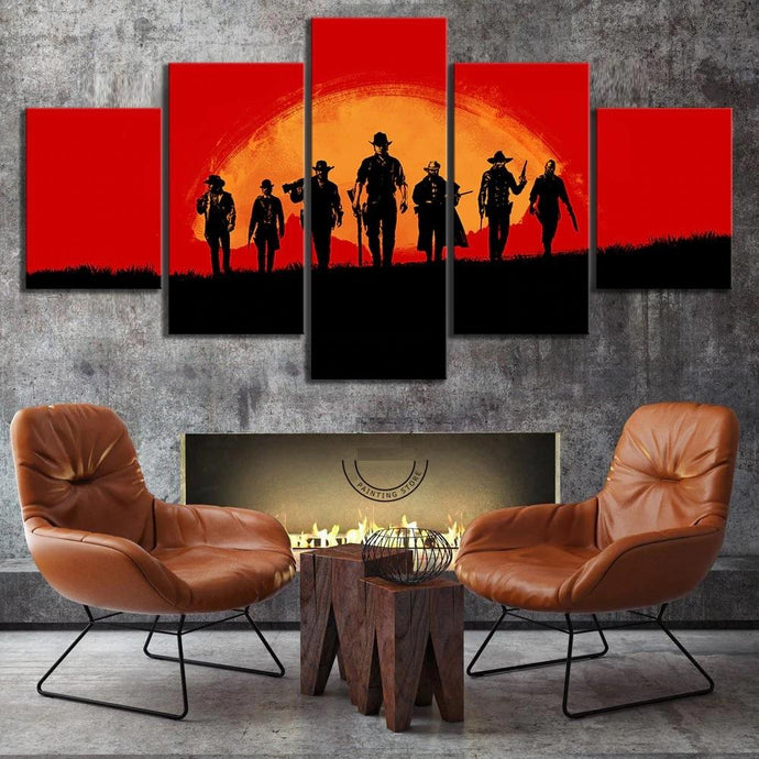 Red Dead Redemption 2 Wall Canvas