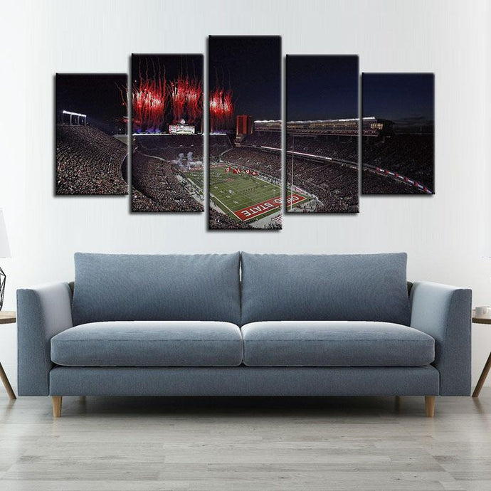 Ohio State Buckeyes Stadium Canvas 2