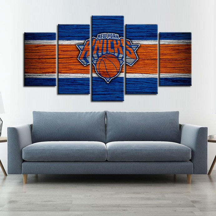 New York Knicks Wooden Look Canvas