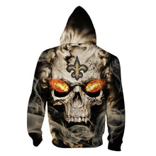 Load image into Gallery viewer, New Orleans Saints 3D Skull Hoodie