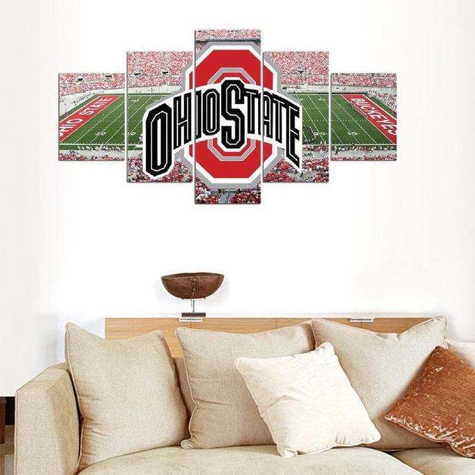Ohio State Buckeyes Stadium Canvas 9