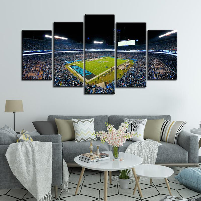Carolina Panthers Stadium 5 Pieces Wall Painting Canvas