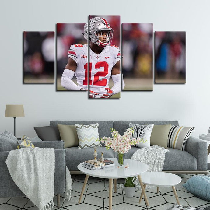 Denzel Ward Ohio State Buckeyes 5 Pieces Painting Canvas