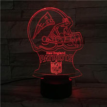 Load image into Gallery viewer, New England Patriots 3D Illusion LED Lamp