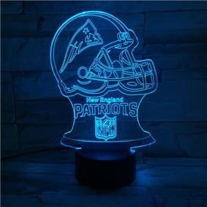 New England Patriots 3D Illusion LED Lamp