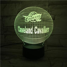 Load image into Gallery viewer, Cleveland Cavaliers 3D Illusion LED Lamp