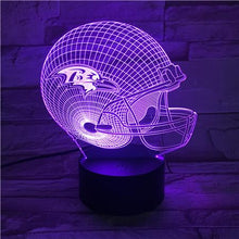 Load image into Gallery viewer, Baltimore Ravens 3D Illusion LED Lamp