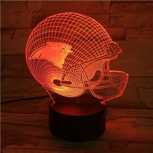 Load image into Gallery viewer, Carolina Panthers 3D Illusion LED Lamp