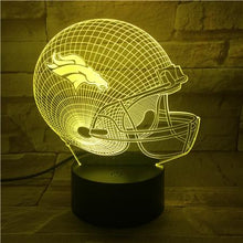 Load image into Gallery viewer, Denver Broncos 3D Illusion LED Lamp