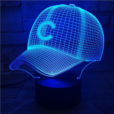Chicago Cubs 3D Illusion LED Lamp
