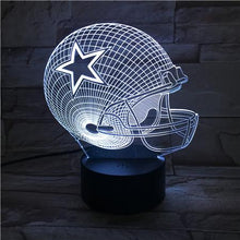 Load image into Gallery viewer, Dallas Cowboys 3D Illusion LED Lamp