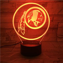 Load image into Gallery viewer, Washington Redskins 3D Illusion LED Lamp 3