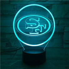 Load image into Gallery viewer, San Francisco 49ers 3D Illusion LED Lamp 2