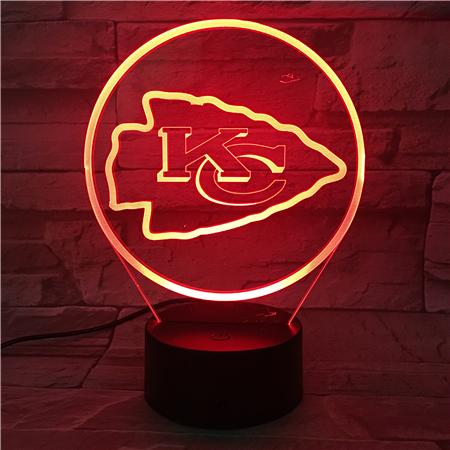 Kansas City Chiefs 3D Illusion LED Lamp