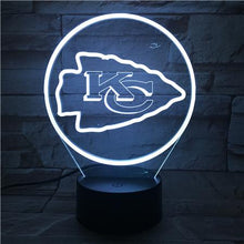 Load image into Gallery viewer, Kansas City Chiefs 3D Illusion LED Lamp