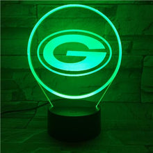Load image into Gallery viewer, Green Bay Packers 3D Illusion LED Lamp 2