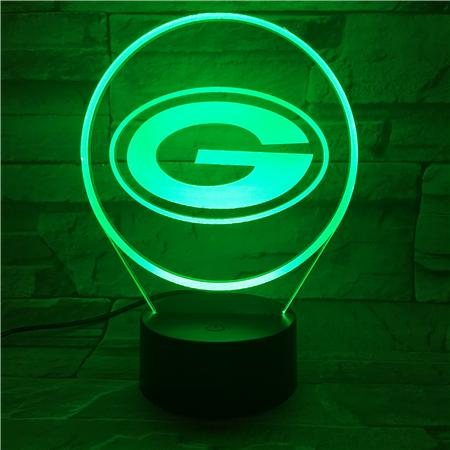 Green Bay Packers 3D Illusion LED Lamp 2