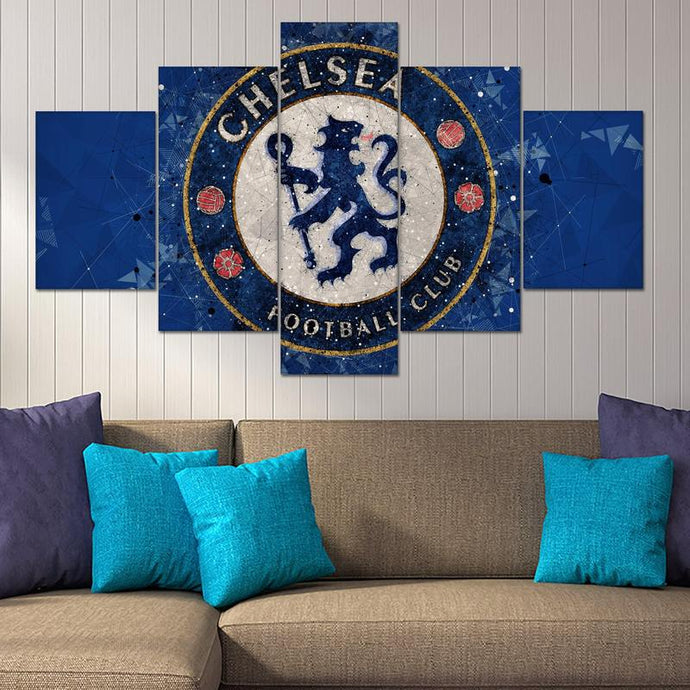 Chelsea F.C. Geometric Art Wall Canvas