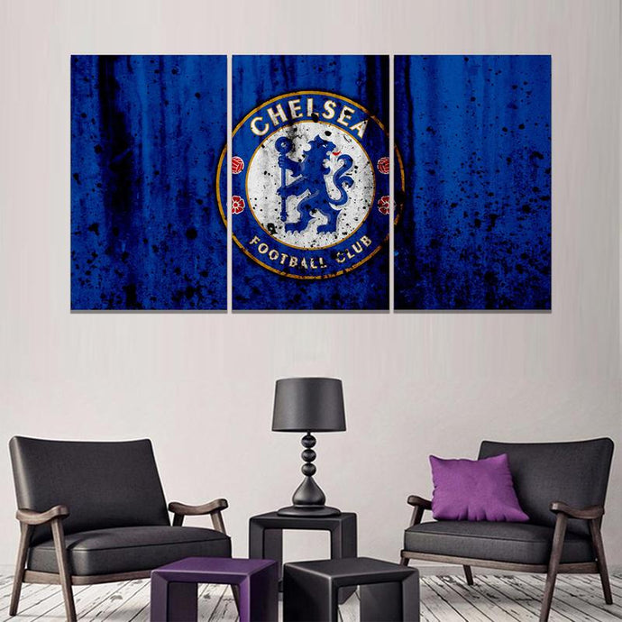 Chelsea F.C. Rough Look Wall Canvas 1