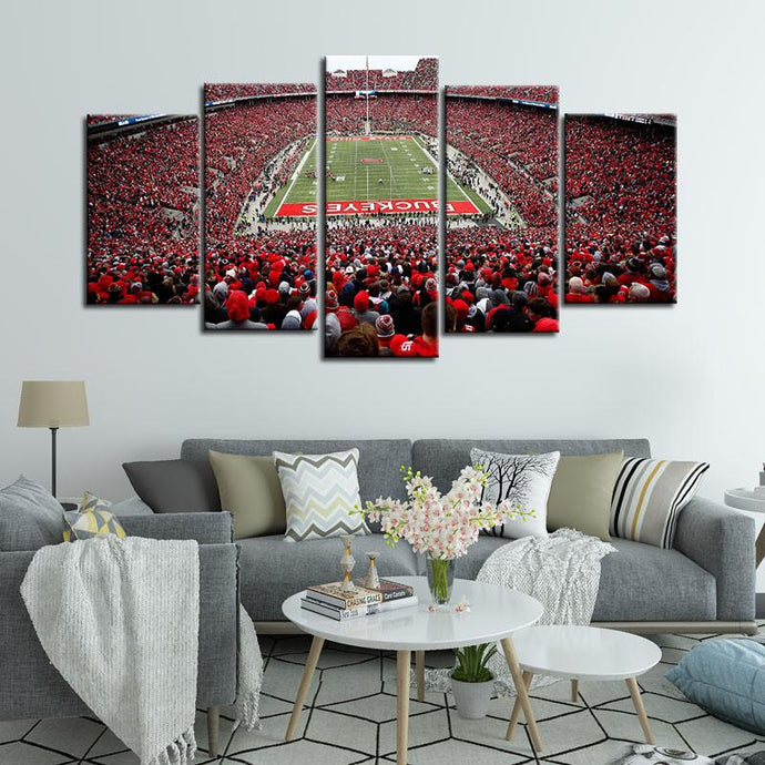 Ohio State Buckeyes Stadium Canvas 4