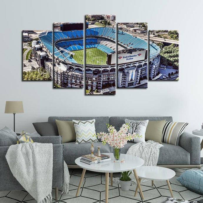 Carolina Panthers Stadium Arial View Canvas