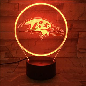 Baltimore Ravens 3D Illusion LED Lamp 3