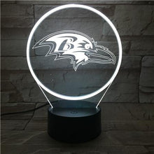 Load image into Gallery viewer, Baltimore Ravens 3D Illusion LED Lamp 3